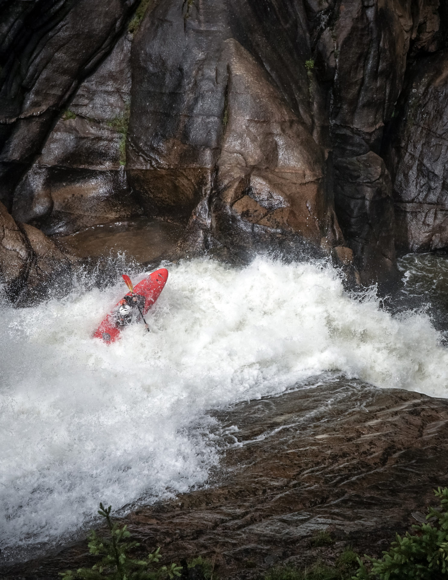 First Descents of Big Goose Creek and the mighty and long sought after Box Canyon of the Tongue River. Over 10 days this past June Erik Boomer, Nouria Newman, and Ben Stookesberry pushed the envelope of steep Rocky Mountain Expedition Kayaking in the Big Horn Mountains of Wyoming with first descents of two of the Ranges largest drainages in Big Goose Creek and the mighty and long sought after Box Canyon of the Tongue River. In both cases the team packed for multiple nights on extremely steep rivers Isolated by Canyon Walls in this eastern most front of the Rocky Mountains. Although there was some portaging what was most impressive was the nearly 6000 vertical feet of gradient that they paddled including monster slides and falls.   These rivers existing right under the noses of several generations of paddling crews in the western USA further exhibits the audacity and high level of kayaking required to make these descents. In contrast to other rivers that our unexplored do to their remoteness and inaccessibility, these rivers with roads literally leading to their put-ins have begged the question for decades that only now has been answered by a crew calling themselves #teampicnic
